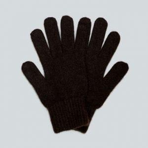 Мужские коричневые перчатки из пуха яка