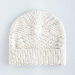 Теплая двухслойная шапка из кашемира