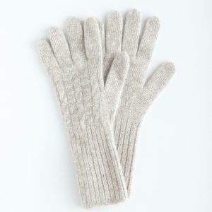Перчатки из серого пуха яка