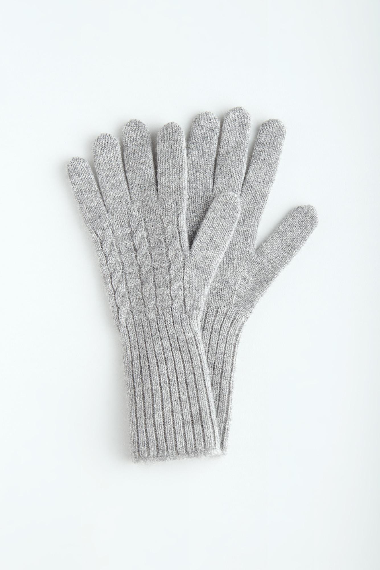 Кашемировые перчатки с удлиненным манжетом