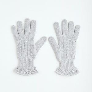 Перчатки из серого кашемира