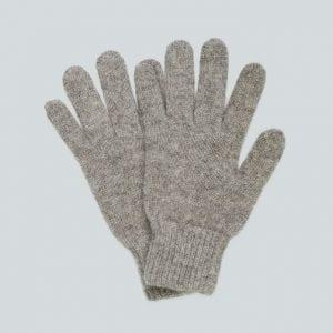 Женские серые перчатки