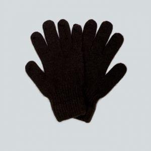 Женские коричневые перчатки из пуха яка